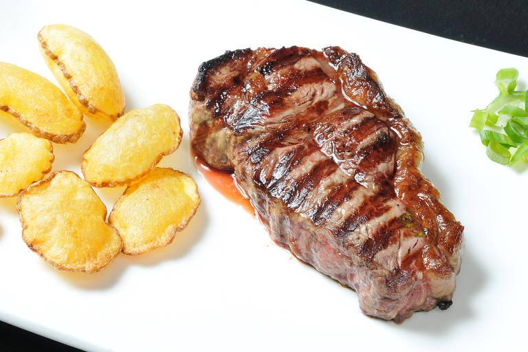 New York Steak servido na nova unidade do Varanda, na região da avenida Faria Lima