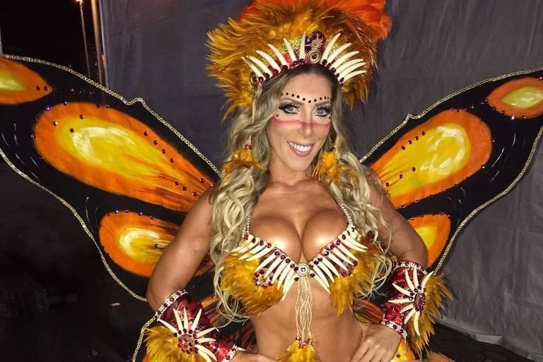 Tati Minerato, rainha da escola de samba Gaviões da Fiel
