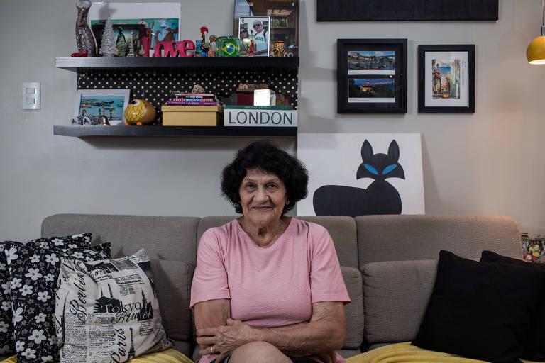 Linete Machado, 83, que têm demência vascular e cuida do marido que foi atropelado