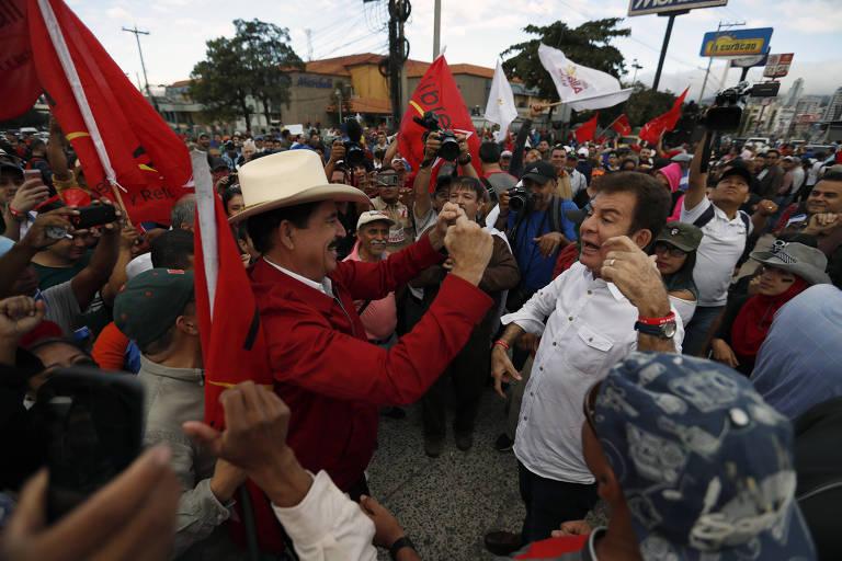 Cerimônia de posse em Honduras, em 2018
