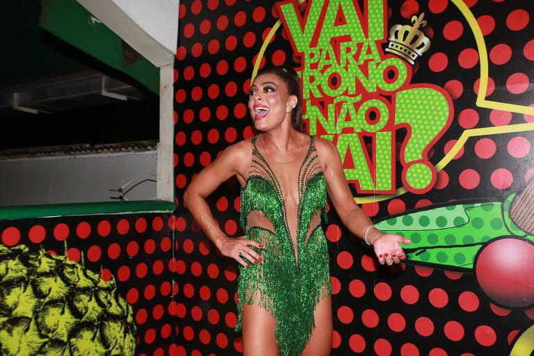 Juliana Paes no ensaio da Grande Rio (27.jan.18)