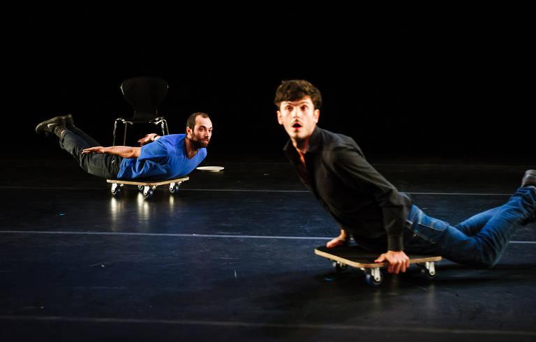 5ª MITsp - Mostra Internacional de Teatro de São Paulo. Espetáculo 'Palmira', de Nasi Voutsas (Grécia) e Bertrand Lesca (França)
