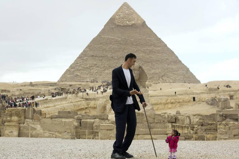 Menor mulher do mundo e o maior homem do mundo
