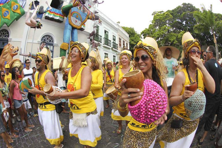 Blocos e ensaios do pré-Carnaval de Olinda (PE)