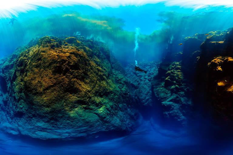 Imagem em 360º da lagoa Misteriosa em Jardim (MS)