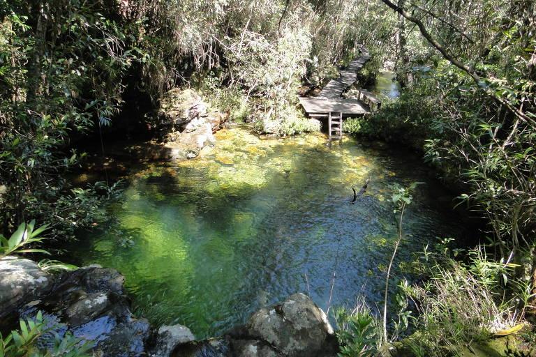 Cachoeira Loquinhas, na Chapada dos Veadeiros, em Goiás