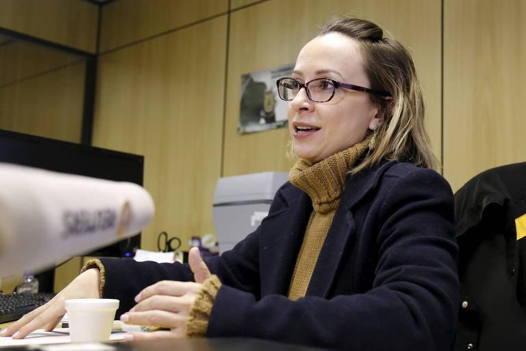 A delegada Erika Marena, da PF, que prendeu reitor da UFSC, Luiz Cancellier, que depois se suicidou.