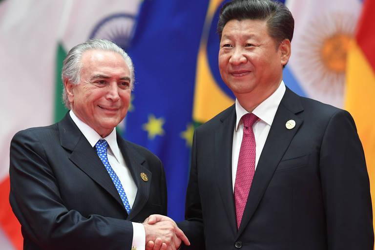 Os presidentes Michel Temer e Xi Jinping (China) se encontram na cúpula dos Brics em Xiamen