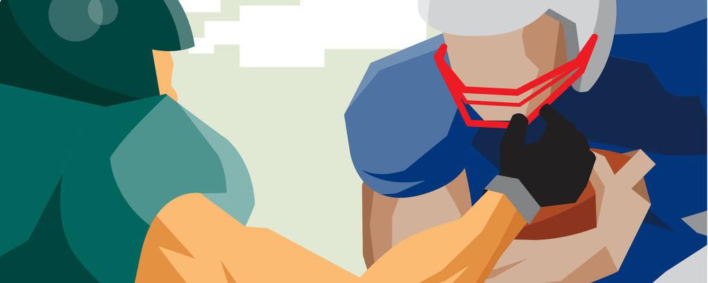 Ilustração sobre futebol americano