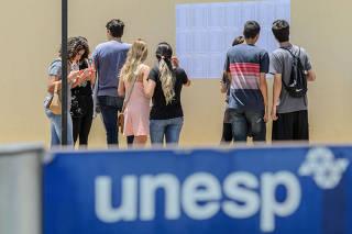 Primeira fase do vestibular UNESP 2018 em Franca, SP
