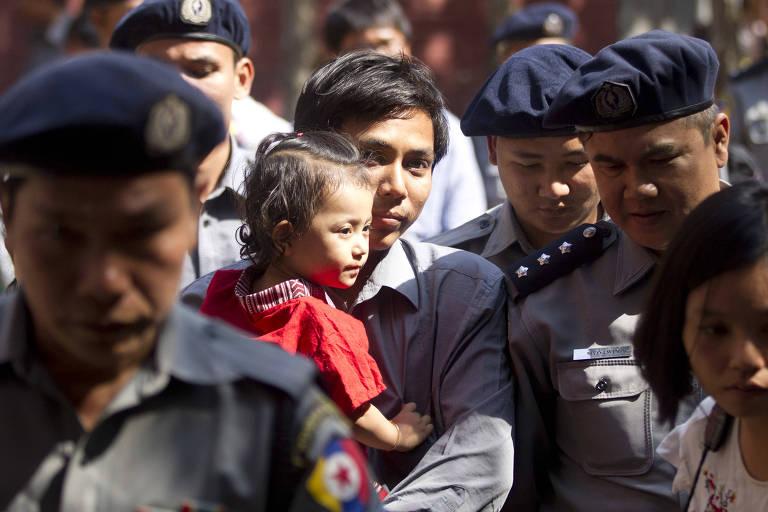 ONU pede a libertação de dupla de jornalistas presa em Mianmar