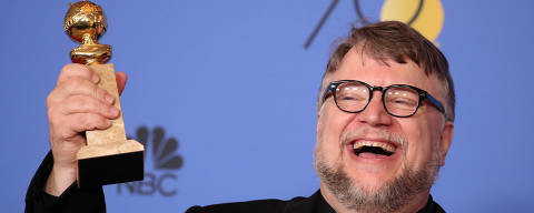 75th Golden Globe Awards ? Photo Room ? Beverly Hills, California, U.S., 07/01/2018 ? Guillermo del Toro poses backstage with the award for Best Director - Motion Picture for