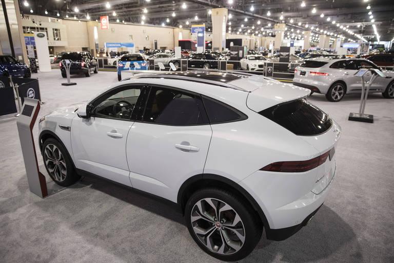 Jaguar E-Pace, novo utilitário esportivo da montadora britânica,  no Philadelphia AUto Show, na Philadelphia, nos EUA; modelo deve chegar ao brasil em abri, com preço a partir de R$ 222,3 mil