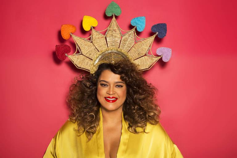 """A cantora Preta Gil faz ensaio para o álbum """"Todas as Cores"""", que será tema de seu bloco"""