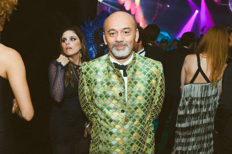 Christian Louboutin  no Baile de Gala da Vogue, realizado no hotel Unique, em São Paulo