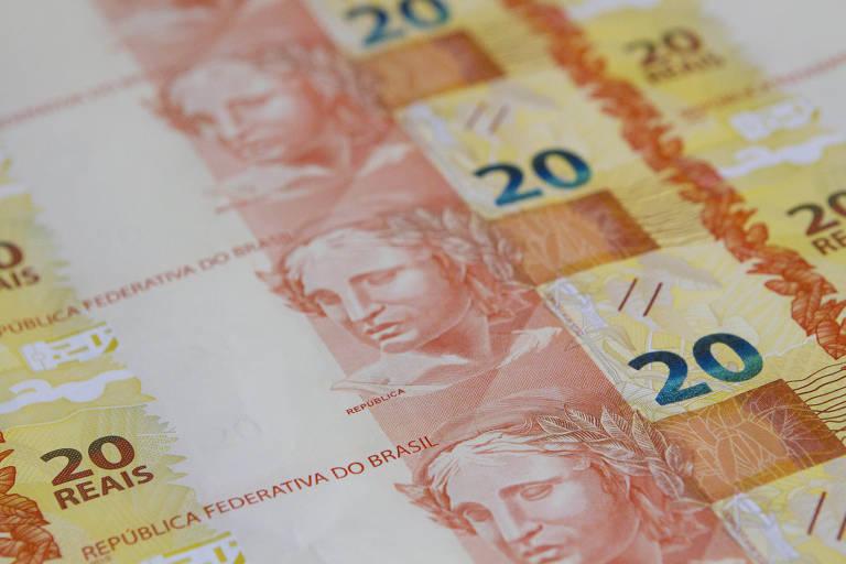 Notas de R$ 20 sendo produzidas na Casa da Moeda, no Rio