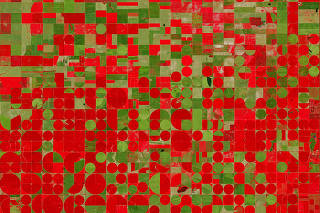 A satellite view of agriculture in Garden City