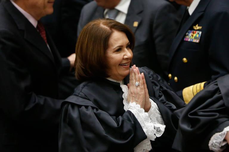 A presidente do STJ, Ministra Laurita Vaz, que recebe o auxílio mesmo tendo imóvel em Brasília (DF)