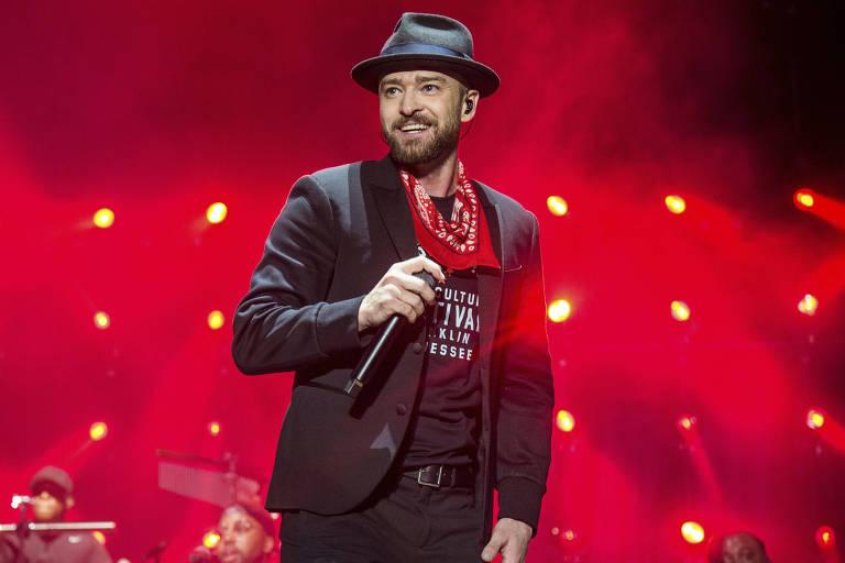 Justin Timberlake durante show no festival Pilgrimage, em Franklin, Tennessee, em 2017