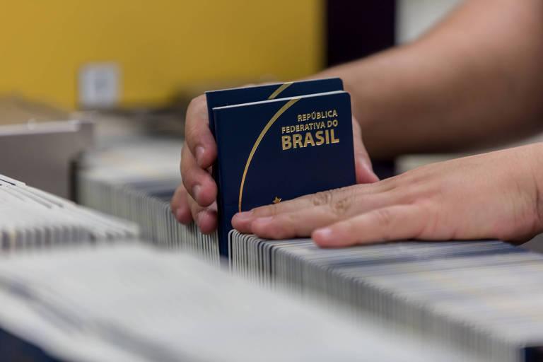 Passaportes na Casa da Moeda, no Rio de Janeiro