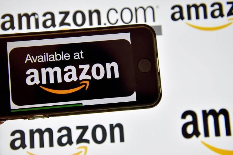 Logo da Amazon em Vertou, na França