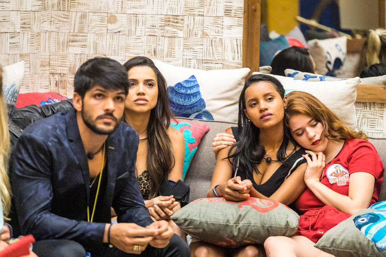 Lucas, Paula, Gleici e Ana Clara no 'Big Brother Brasil 18'