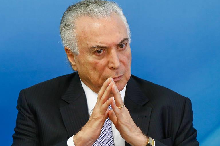 O presidente Michel Temer em evento no Palácio do Planalto