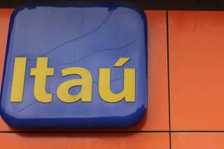 A logo of Itau bank is seen in Rio de Janeiro