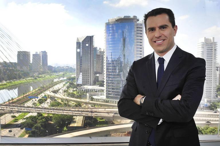 """O apresentador do telejornal """"Bom Dia São Paulo"""", Rodrigo Bocardi"""