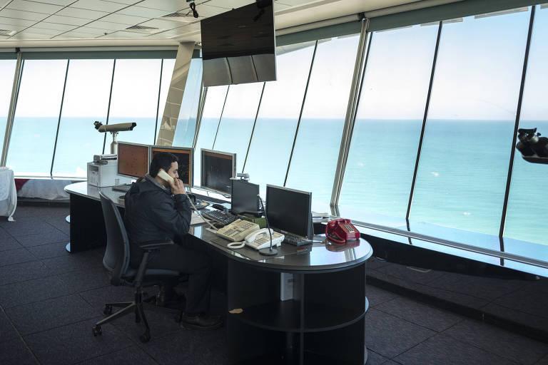 Vista do centro de controle do porto em Ras Tanura, Arábia Saudita, 11 de janeiro de 2018
