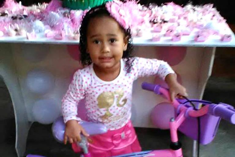 Emily Sofia, de 3 anos, que morreu em tentativa de assalto no Rio