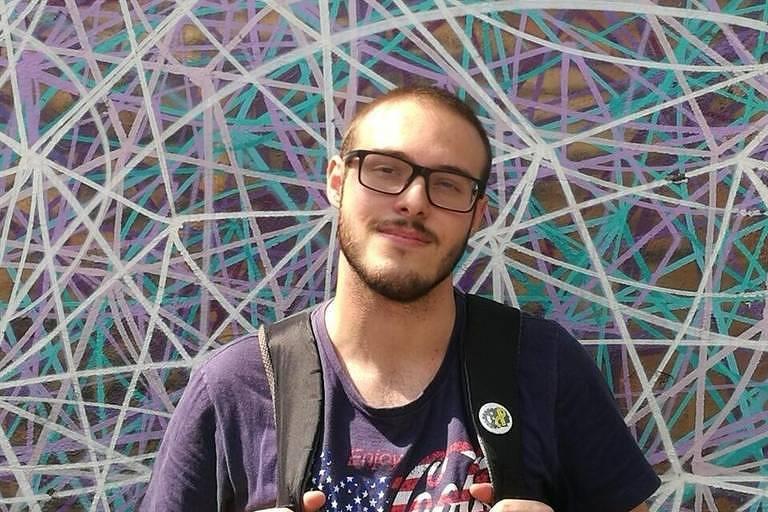 O universitário Lucas Antônio Lacerda da Silva, 22, que morreu ao encostar em um poste eletrificado num bloco de Carnaval, na rua da Consolação