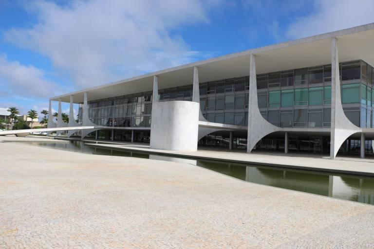 Fachada do Palácio do Planalto, em Brasília
