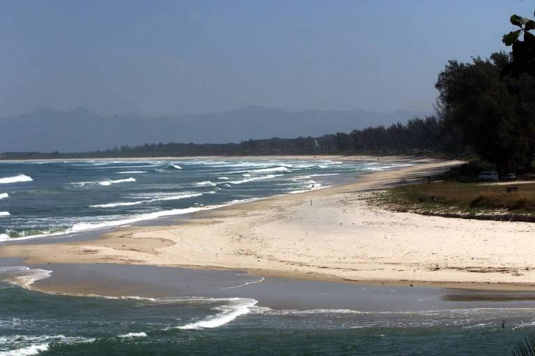 Vista da praia da Restinga da Marambaia, na zona oeste do Rio, privativa da Marinha
