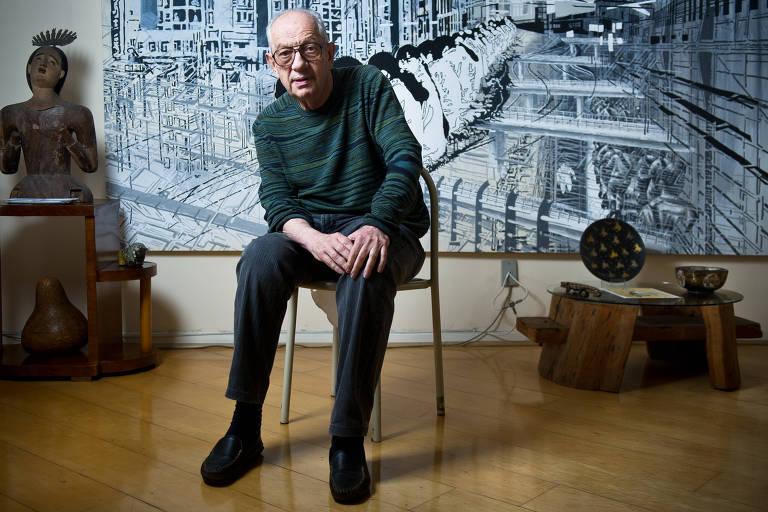 O galerista Thomas Cohn, em sua casa, em 2012
