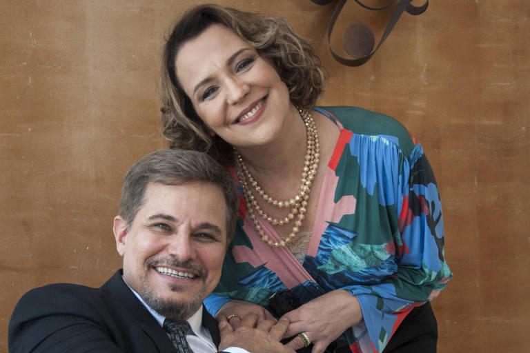 Edson Celulari e Ana Beatriz Nogueira em cena de 'Malhação: Vidas Brasileiras'
