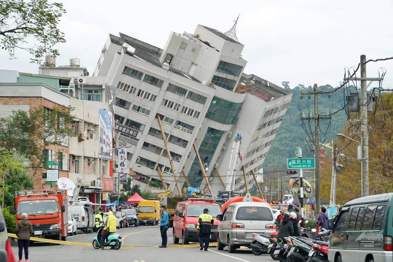 Terremoto de magnitude 6.4 atinge Taiwan e deixa 6mortos