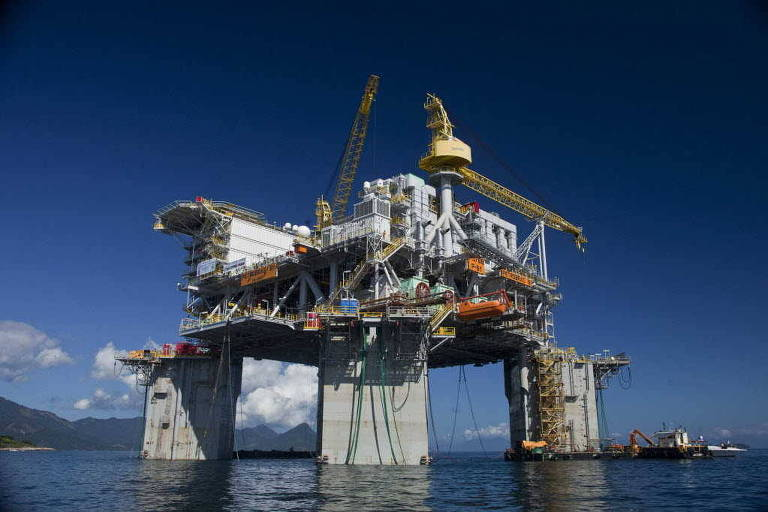 Plataforma da Petrobras em Angra dos Reis (RJ)