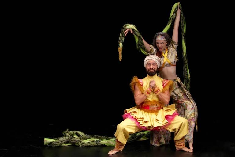 Cena do espetáculo infantil 'Mogli - O Livro da Selva'