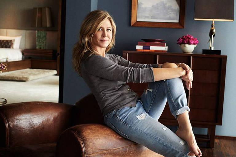 Jennifer Aniston mostra a casa onde mora com o marido