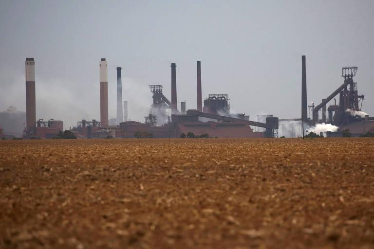 Fábrica da ArcelorMittal, em Johannesburg, África do Sul