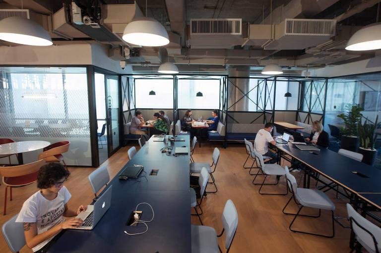 Espaço de coworking em São Paulo