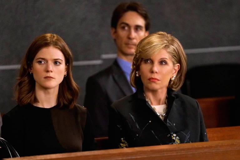 """Rose Leslie e Chistine Baranski em cena de """"The Good Fight"""", série da Amazon"""