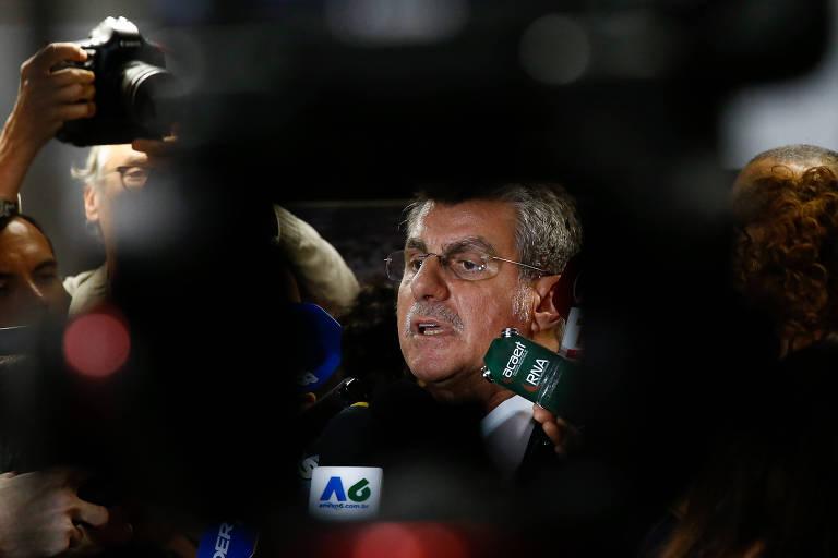 O senador Romero Jucá (MDB-RR), que teve investigação contra ele arquivada pelo ministro Marco Aurélio, do STF