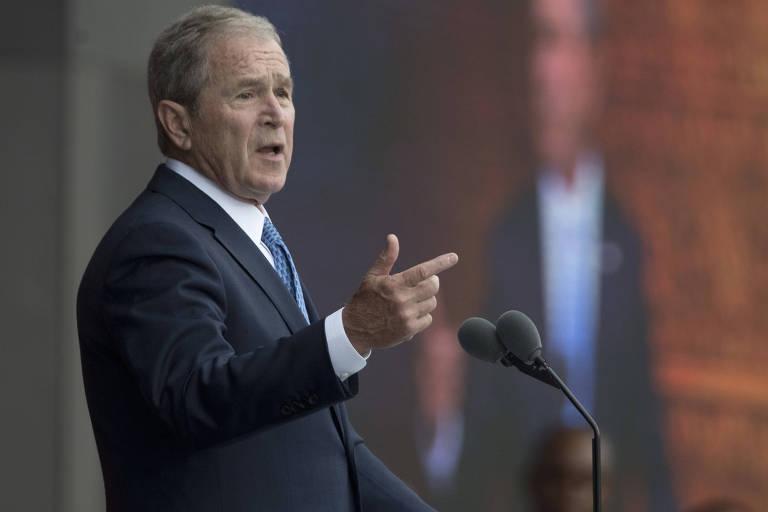 O ex-presidente americano George W. Bush durante evento em Washington