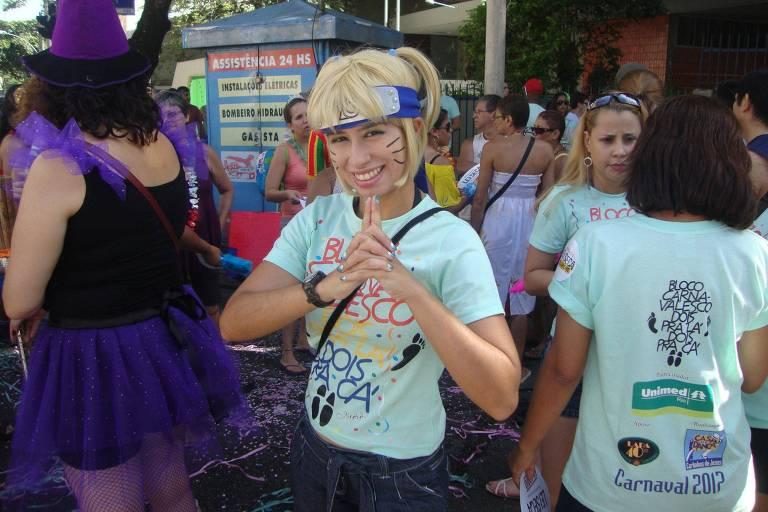 Nina Morena Domingues como 'Naruto de Bloco'