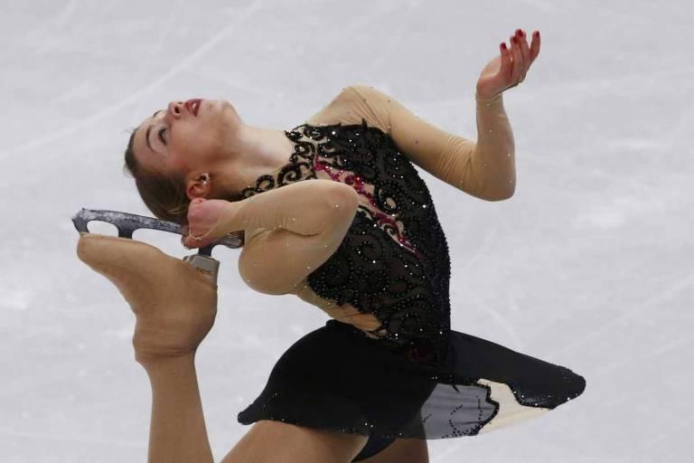 Isadora Williams durante competição em Sochi-2014