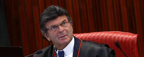 BRASILIA, DF,  BRASIL,  08-02-2018, 09h00: O ministro presidente do TSE, Luiz Fux, preside sua primeira sessão na Corte na manhã de hoje. (Foto: Pedro Ladeira/Folhapress, PODER)