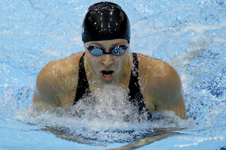 Ariana Kukors compete nos 200 m medley individuais na Olimpíada de Londres-2012