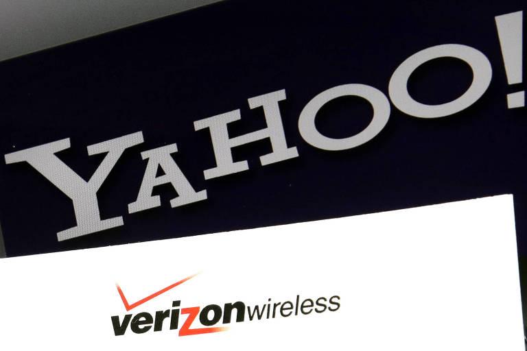 Logos de Yahoo e Verizon